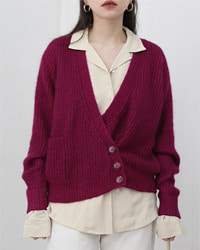 (cordier)mohair knit cardigan