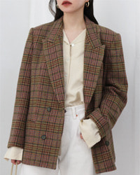 (DAKS)check jacket