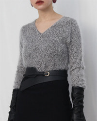 (nolley's)angora wool knit top