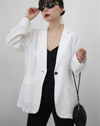 (Brillage)white linen jacket