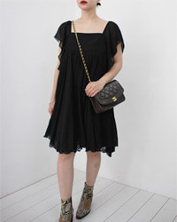 (ashill)black mini dress