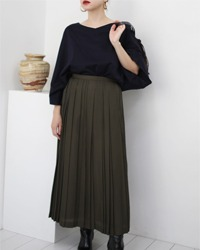 (YOURS EVER)pleats long skirt