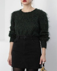 mohair knit top