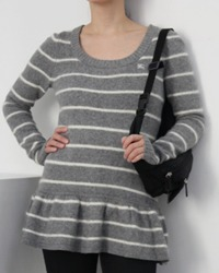 (burberry)stripe fill knit